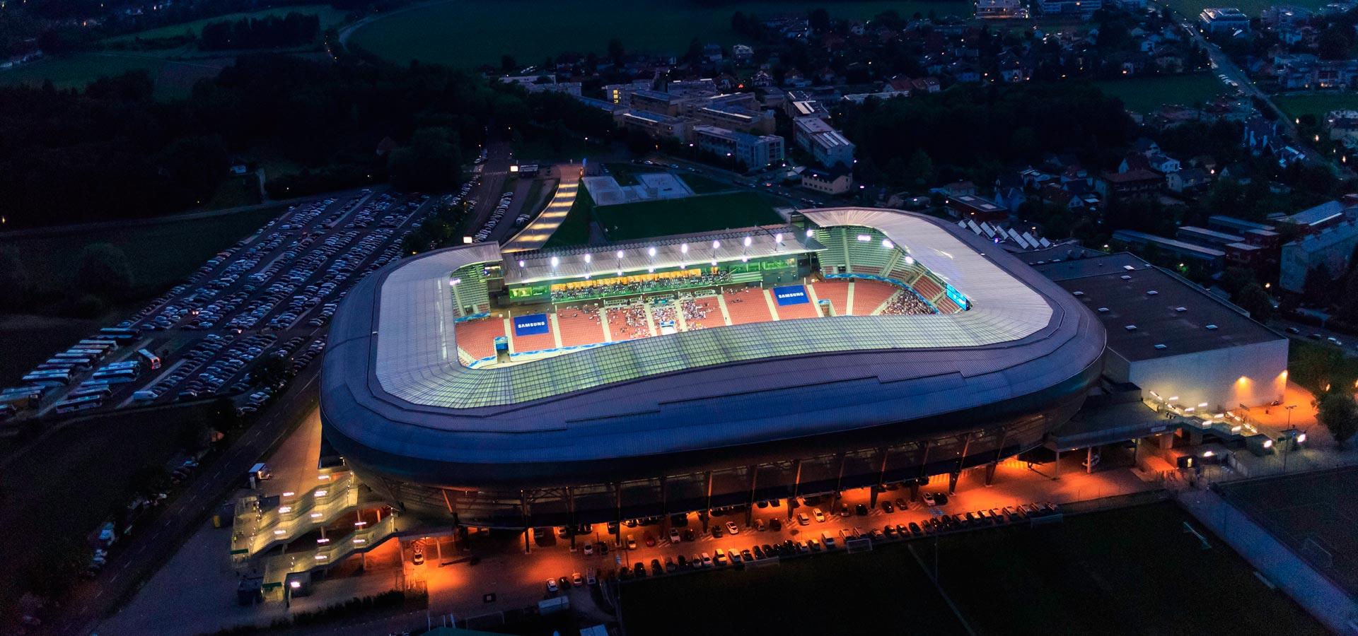 Stadion Klagenfurt Luftaufnahme