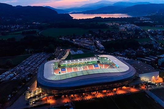 Wörthersee Stadion Luftaufnahme (c) Gert Steinthaler