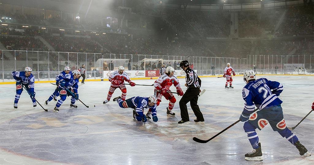 Eishockey Freiluft-Derby 2015 (KAC vs. VSV) im Wörthersee Stadion (c) Sportpark Klagenfurt